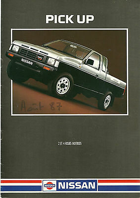 CATALOGUE PUBLICITAIRE NISSAN PICK UP - 4x4  - 1987
