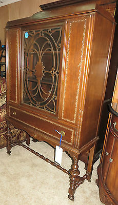 Vintage China Cabinet with Glass Door