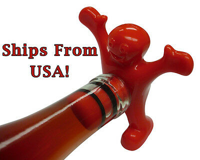 Sir Perky's Bottle Stopper Wine Novelty Gag This Man Is Happy to Plug Your Hole