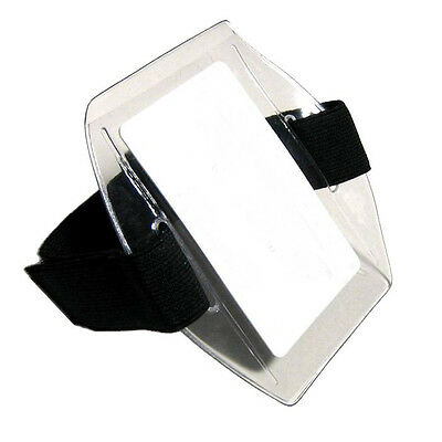 Arm Band Photo ID Badge Holder Vertical w/ Black Strap