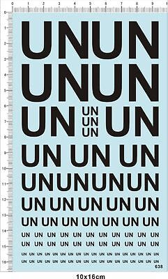 decal UN United Nations for 1/35,1/48 or other(black) 638