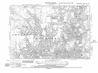 Old Map of  Coventry North,  Warwickshire -1938 - Repro 21 NE