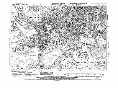 Old Map of  Coventry, Warwickshire -1938 - Repro 21 SE