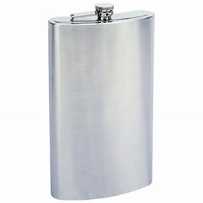 New JUMBO BIG 128 oz FLASK Stainless Steel Screw Cap Party Liquor 1 GALLON Size