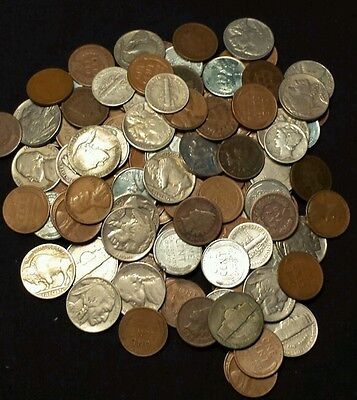 GRAB BAG SPECIAL - $80LOT OF MIXED COINS 60 to 120 YEARS OLD+  Estate lot