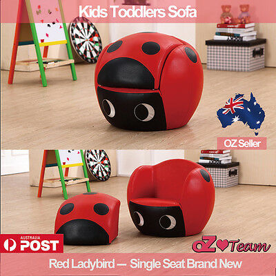 Kids Toddlers Sofa Lounge Couch Ladybird Single Seat Brand New