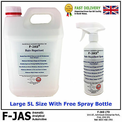 F-JAS® Rain Repellent 5L with included Spray Bottle