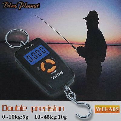 Pocket Size Digital Fishing Scale Up To- 45Kg With Steel Hook