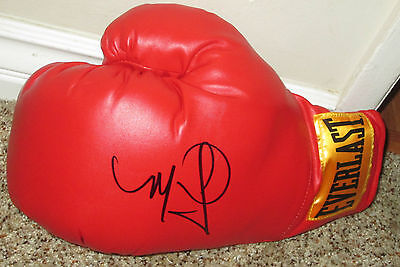 Miguel Cotto Signed Everlast Boxing Glove with proof