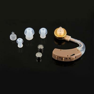 Behind the Ear Adjustable Sound Amplifier Deaf Hearing Aid Aids Kit