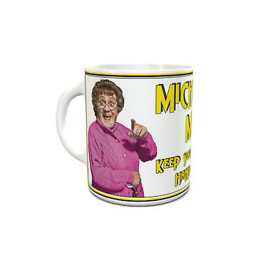 Mrs Brown custom printed mug personalised with your name unique unusual gift