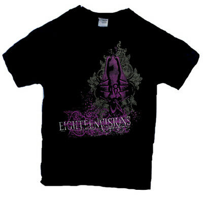 EIGHTEEN VISIONS-metal,post-harcore,metalcore,merchandise band t-shirt,sizes M,L