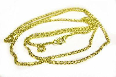 4 of 32 inch gold finish ready to wear necklace chain-9318
