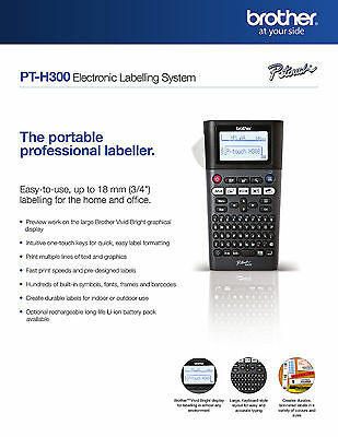 Brother PT- H300 Portable professional labeller