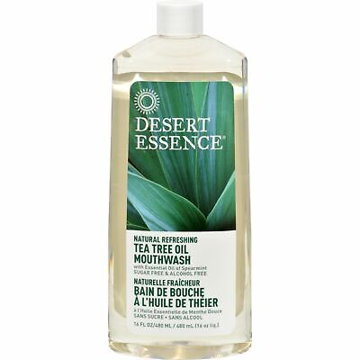 Desert Essence Natural Refreshing Tea Tree Oil Mouthwash - 16 Fl Oz