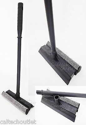Car Window Squeegee Long Handle Washer Scrubber Cleaner Wiper Brush