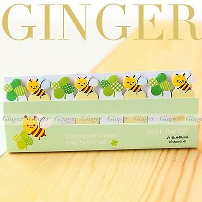 Bee Funny 120 Pages Sticker Post It Bookmark Marker Memo Flags Sticky Notes