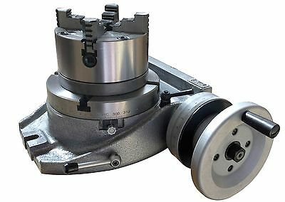 """The Adapter and 4 Jaw Chuck for Mounting On A 8"""" Rotary Table"""