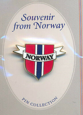 Lapel Pin Norway Flag Shield