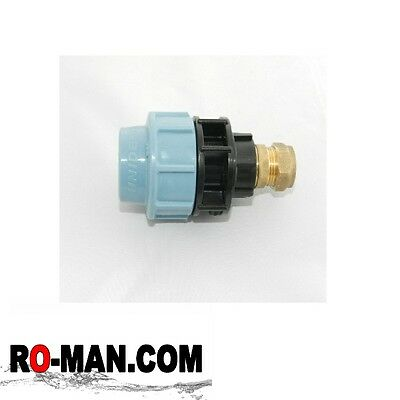 Water / PE / Alkathene / MDPE 20 x 15mm Union Compression Fitting