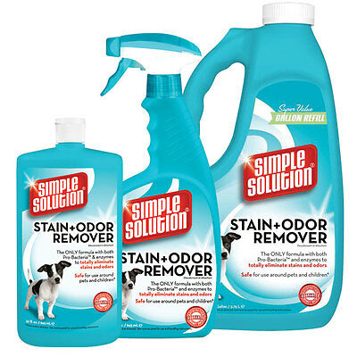 Simple Solution Stain & Odour Remover,dogs cats,ferrets,rabbits,human 4 sizes
