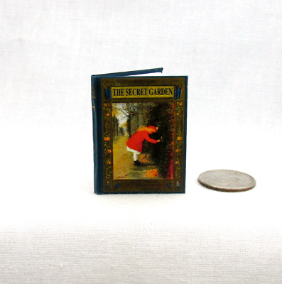 THE SECRET GARDEN in 1:6 Scale Readable Illustrated Book Miniature Book