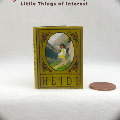 HEIDI 1:6 Scale Book Readable Color Illustrated Miniature Book bjd Momoko Barbie