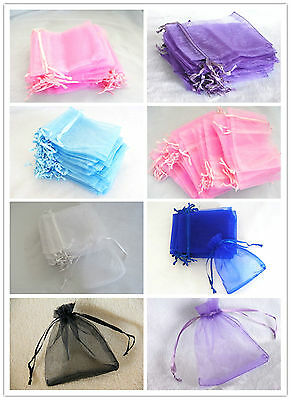 Organza Bags Pouches Wedding Party Gift Jewellery Candy Pack Wrapping 100/500pcs