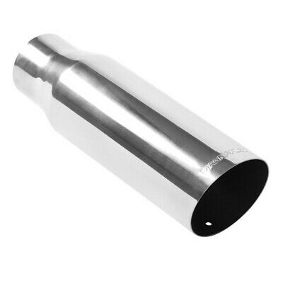 "3.5"" Round Tip (3"" In 12"" L) Polished 304 Stainless Magnaflow Exhaust 35104"