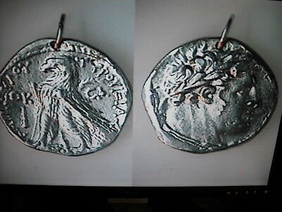 ANCIENT COIN SHEKEL OF TYRE PENDANT (no mount) BIBLICAL 30 PIECES OF SILVER