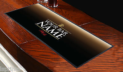 Personalised Real Ale Black Bar Runner Ideal For Home Cocktail Party Occasion