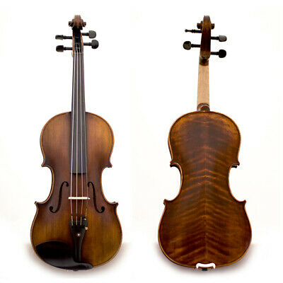 Professional Hand-made 4/4 Full Size Satin Acoustic Violin Antique SKYSH100