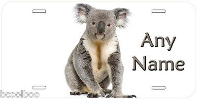 Koala Picture Any Name Personalized Car Tag Novelty License Plate P03