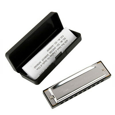 Silver Swan Metal Holes C Harmonica with Case Hotsale Easy to learn learner Good