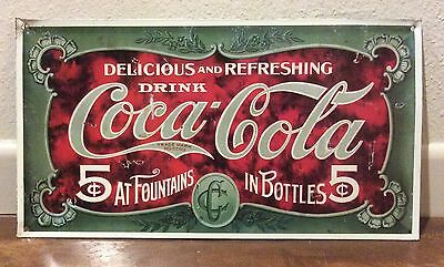 Coca Cola Reproduction Advertising Retro Metal Sign Delicious and Refreshing
