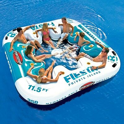 SportsStuff Fiesta Private Island Floating Water Tube 8 Person 54-2010