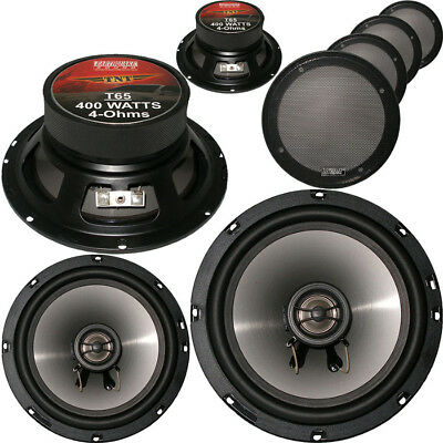 "2 x Earthquake Sound TN65 6.5"" 2-Way Car Audio Speaker (2 Pairs) 6-1/2"""