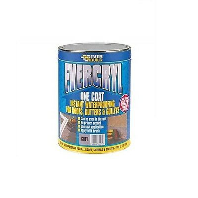 Everbuild Grey Evercryl One Coat 2.5Kg Roof Repair Compound Paint