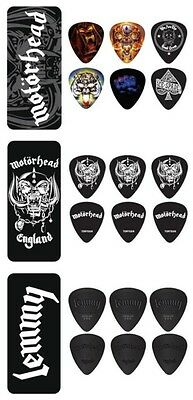 Dunlop Motorhead / Lemmy Pick Tin - 6 Picks in tin with Choice of  3 Designs