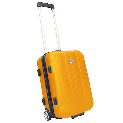 """Traveler's Choice Rome 20"""" Orange Carry-on Lightweight Rolling Suitcase Luggage"""