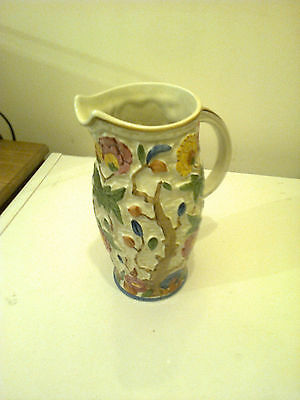 INDIAN TREE VASE JUG H.J. WOOD  20CM HIGH BRILL COND FROM 1950 S BRILL WHITE