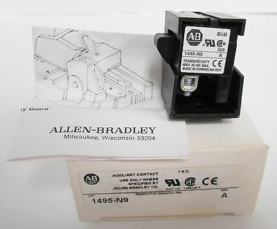 Allen Bradley 1495-N9 Auxiliary Contact 1 NC