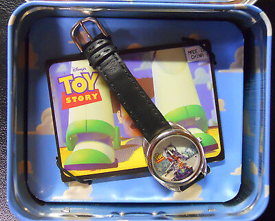 """1996 Fossil Toy Story """"Buzz & Woody"""" Limited Edition Watch w/ Lunchbox Tin"""