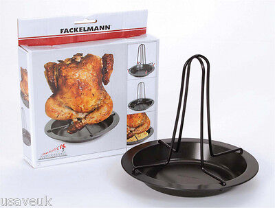 Fackelmann Upright Oven Chicken Roster Tin Non Stick With Bowl