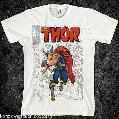 Vintage, retro, Thor t shirt, god of thunder, avenger, action, comic, hammer