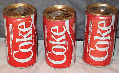 3 RARE 1980 LA Olympic Committee COKE 1981 WRESTLING Coca Cola CANS UNOPENED