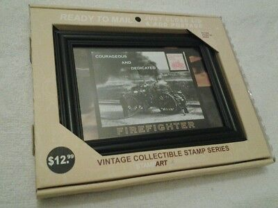 Vintage Collectible Stamp Series Item # 23133456 FIREFIGHTER  2005 STAMP ART