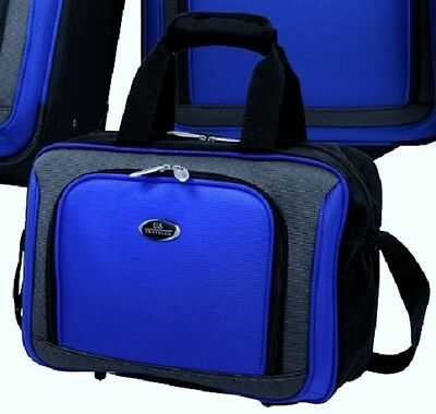 """US Traveler Blue New Yorker Carry-on Luggage 15"""" Boarding Tote Bag w/Piggy Strap"""