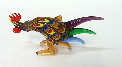 Fitz and Floyd Glass Menagerie SPIKE TAIL ROOSTER In Original Box 43/156