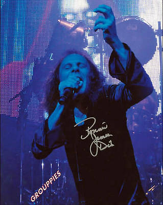 Ronnie James Dio signed 8x10 photo RP